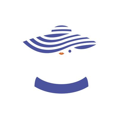 Lady in Striped Hat