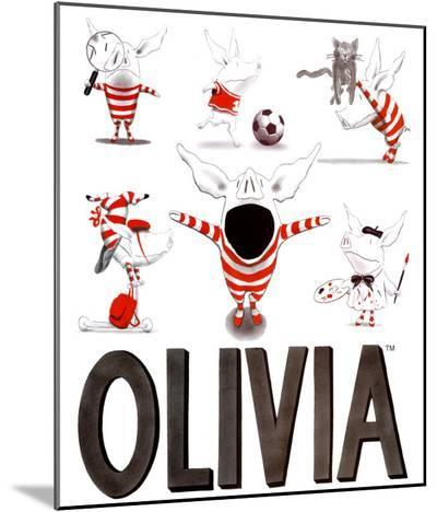 Olivia, Busy Little Piggy-Ian Falconer-Mounted Print