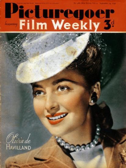 Olivia De Havilland (B191), American Actress, 1940--Giclee Print