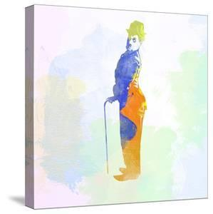 Legendary Chaplin Watercolor by Olivia Morgan