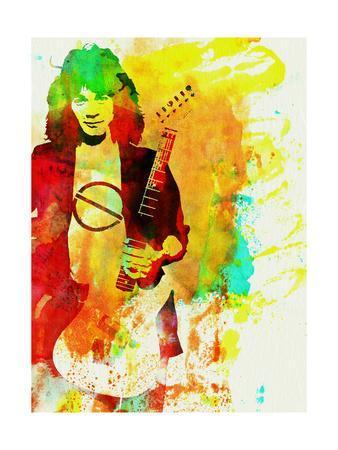 Legendary Eddie Van Halen Watercolor