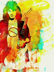 Legendary Eddie Van Halen Watercolor by Olivia Morgan