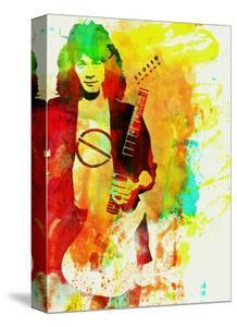 Legendary Eddie Van Halen Watercolor by Olivia Morgan