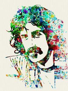 Legendary Frank Zappa Watercolor by Olivia Morgan