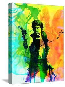 Legendary Han Solo Watercolor by Olivia Morgan