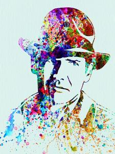 Legendary Indiana Jones Watercolor by Olivia Morgan