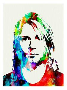 Legendary Kurt Cobain Watercolor by Olivia Morgan