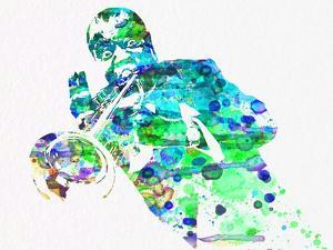 Legendary Louis Armstrong Watercolor by Olivia Morgan