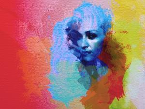 Legendary  Madona Watercolor by Olivia Morgan