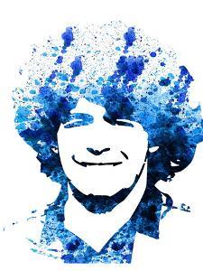 Legendary Maradona Watercolor by Olivia Morgan