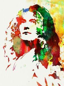 Legendary Robert Plant Watercolor by Olivia Morgan