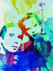 Legendary Simon and Garfunkel Watercolor by Olivia Morgan