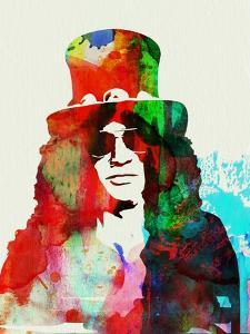Legendary Slash Watercolor II by Olivia Morgan
