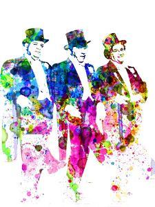 Legendary Three Stooges Watercolor I by Olivia Morgan