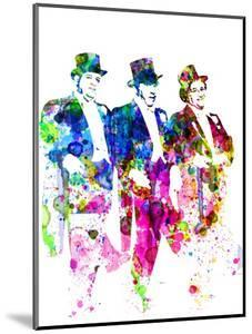 Legendary Three Stooges Watercolor I by Olivia Morgan