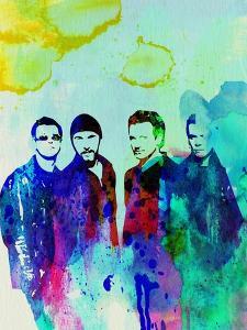 Legendary U2 Watercolor by Olivia Morgan