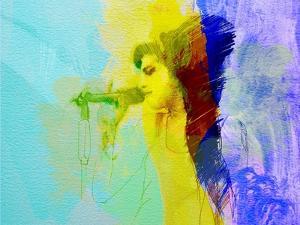 Legendary  Winehouse Watercolor by Olivia Morgan