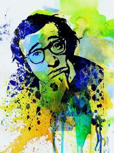 Legendary Woody Allen Watercolor by Olivia Morgan
