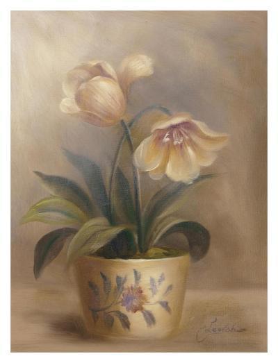 Olivia's Flowers II-Cheovan-Art Print