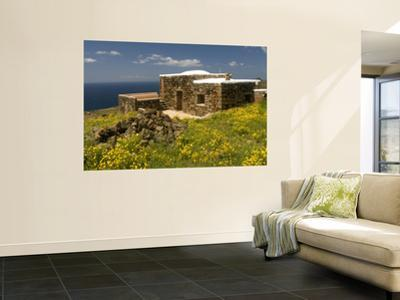 A Dammuso, Traditional Stone House of Pantelleria Island, with Roof Used to Collect Rainwater