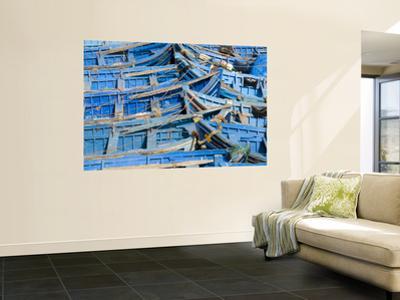 Blue Fishing Boats at Port