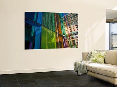 Coloured Glass Panels on Palais Des Congres