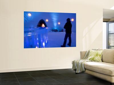 Man at Bar of Kirkenes Ice Hotel
