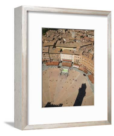 Piazza Del Campo and Shadow of the Tower from Top of Torre Del Mangia