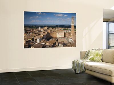 Torre Del Mangia and Piazza Del Campo from the Facciatone, on Top of Museo Del Opera