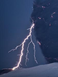 Volcanic Lightning, Iceland, April 2010 by Olivier Vandeginste
