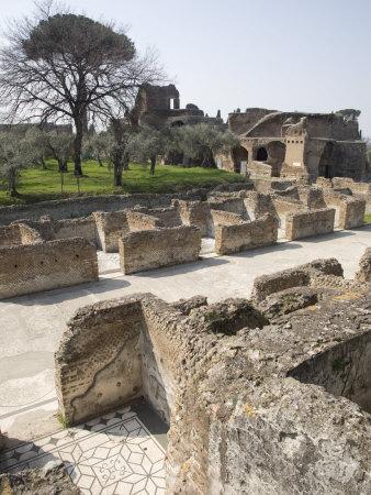 Hadrian's Villa, UNESCO World Heritage Site, Tivoli, Near Rome, Lazio, Italy, Europe