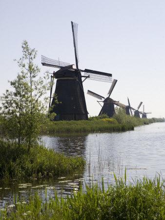 Kinderdijk Windmills, UNESCO World Heritage Site, Holland, Europe