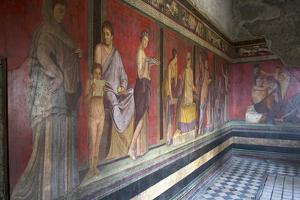 In the Triclinium, Villa Dei Misteri, Pompeii, Campania, Italy by Oliviero Olivieri