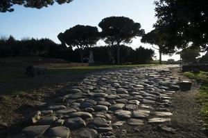 Main Decumano in the High Street, Ancient Ostia (Ostia Antica), Rome, Lazio, Italy, Europe by Oliviero Olivieri