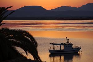 Sun Rise over the Lagoon of Sant'Antioco, Sardinia, Italy, Mediterranean, Europe by Oliviero Olivieri