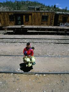 Tarahumara Indian Mother and Child, Copper Canyon Train, Mexico, North America by Oliviero Olivieri