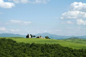 The Chapel of Our Lady of Vitaleta, Val D'Orcia, UNESCO World Heritage Site, Tuscany, Italy, Europe by Oliviero Olivieri