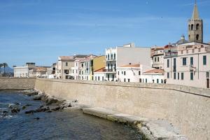 The Sea Promenade of Alghero, Sardinia, Italy, Mediterranean, Europe by Oliviero Olivieri