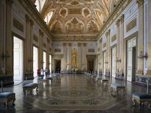 Throne Room, Royal Palace, Caserta, Campania, Italy, Europe by Oliviero Olivieri