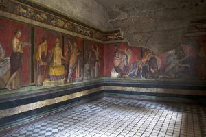 Triclinium Frescoes, Villa Dei Misteri, Pompeii, Campania, Italy by Oliviero Olivieri