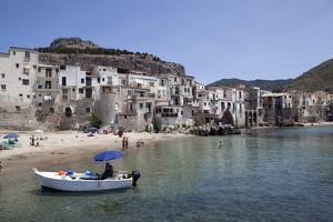 View of Cefalu Beach, Sicily, Italy, Mediterranean, Europe by Oliviero Olivieri