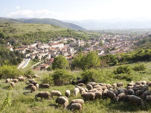 View of Pescina, Abruzzi, Italy, Europe by Oliviero Olivieri
