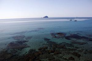 View over the Bull Island Sant'Antioco Sardinia, Italy, Mediterranean, Europe by Oliviero Olivieri