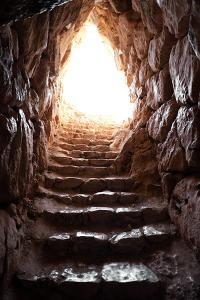 Exit Of A Cave In Archaeological Excavations Of Mycenae by ollirg