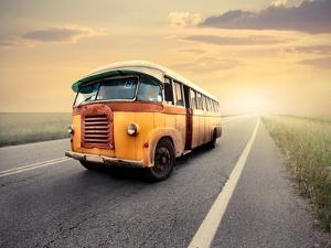 Vintage Van on a Countryside Road by olly2