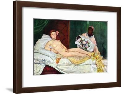 Olympia No.1-Edouard Manet-Framed Art Print