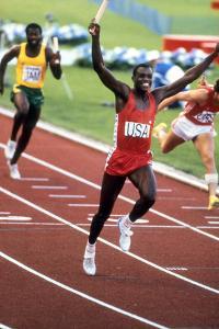 Olympic Games in Los Angeles, 1984 : 4X100M : American Team Is Winner : Carl Lewis