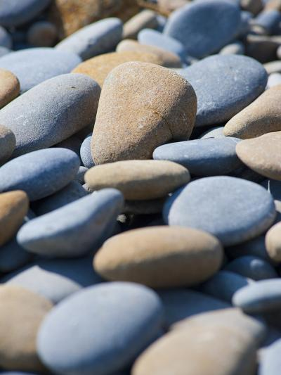 Olympic National Park, Wa: Blue and Brown Stones Found on Ruby Beach-Brad Beck-Photographic Print