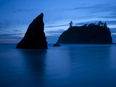 Olympic National Park, Wa: Sea Stacks Get Wrapped by the Incoming Tide-Brad Beck-Photographic Print