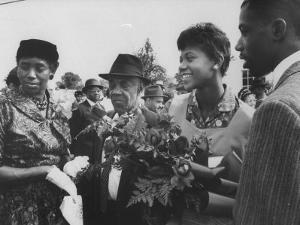 Olympic Star Wilma Rudolph with Her Father Ed Rudolph and Family